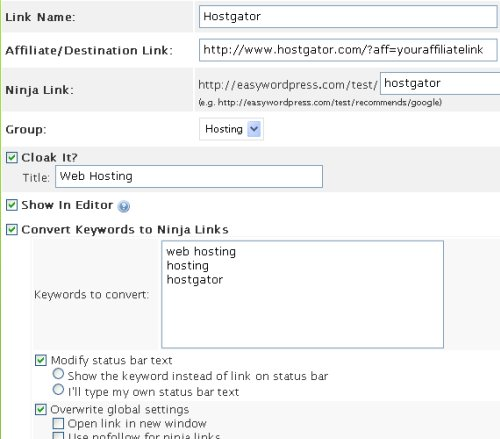 affiliate ninja wordpress plugin