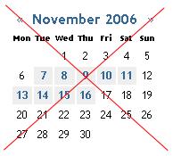get rid of calendar