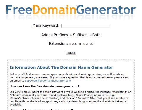free-domain-generator
