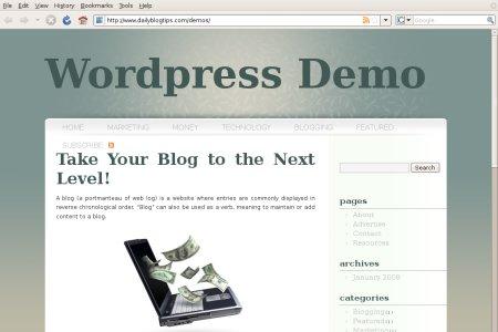 subtle zen wordpress theme