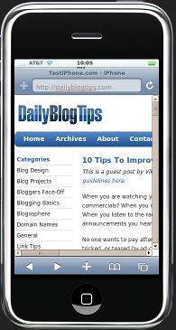 test-website-iphone