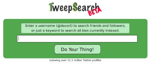 tweepsearch